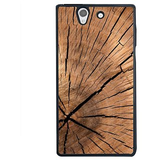 Fuson Designer Phone Back Case Cover Sony Xperia Z ( The Cracks In The Wood )