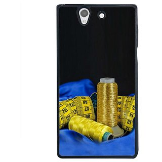 Fuson Designer Phone Back Case Cover Sony Xperia Z ( Measuring Tapes And Copper Wire )
