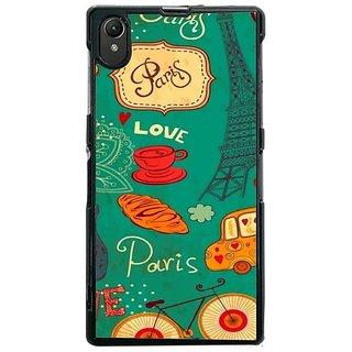 Fuson Designer Phone Back Case Cover Sony Xperia Z1 ( Love In Paris )