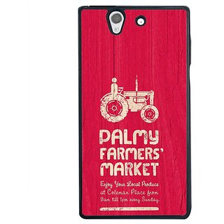 Fuson Designer Phone Back Case Cover Sony Xperia Z ( The Farmer'S Choice )