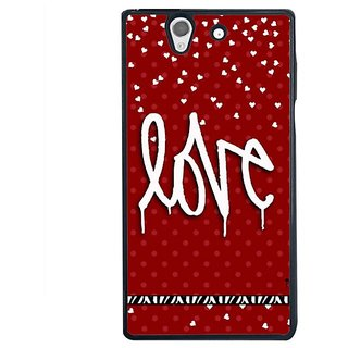 Fuson Designer Phone Back Case Cover Sony Xperia Z ( The Written Word Love )