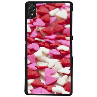 Fuson Designer Phone Back Case Cover Sony Xperia Z2 ( Little Heart Shaped Things All Over )