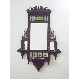 Wooden Jharokha/Wall Mirror/ (Teak Wood, Antique Design, 3 feet 6 inch height x 2 feet 8 inch length)
