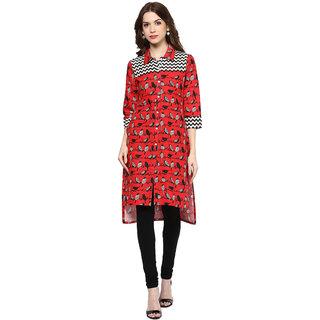 Shakumbhari Red Cotton Kurta