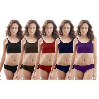XL, XXL Size Ladies Multi Color Panties (Set of 5 Panties.)