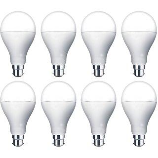 MR Lights B22 3-Watt Warm White LED Bulb (Pack of 8, White)