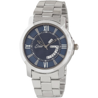 Eraa Men's Day  Date Stainless Steel Casual Analog Watch