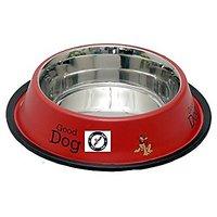 PETHUB QUALITY AND STYLISH DOG FOOD BOWL-460 ML RED