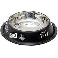 PETHUB QUALITY AND STYLISH DOG FOOD BOWL-600 ML BLACK