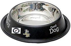 PETHUB QUALITY AND STYLISH DOG FOOD BOWL-460 ML BLACK