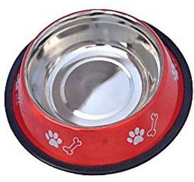 PETHUB Standard Dog Food Bowl -700ml-Red
