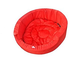PETHUB Standard Dog Bed -Red-Medium