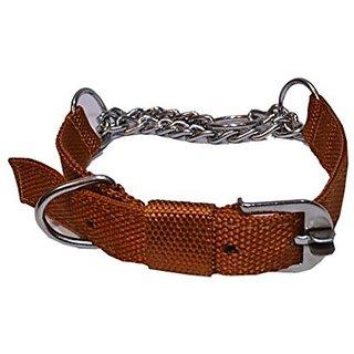 PETHUB Dog Chock Collar With Nylon Padding 1 inch-Brown