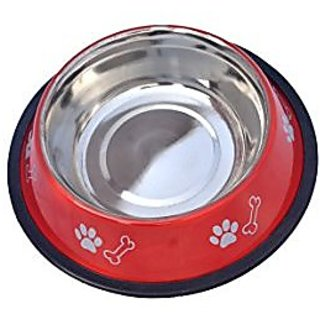 PETHUB Standard Dog Food Bowl -460ml-Red