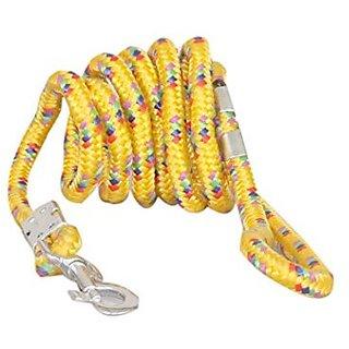PETHUB High Quality And Stylish Dog Cord leash Medium-Yellow