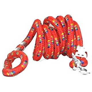 PETHUB High Quality And Stylish Dog Cord leash Medium-Red