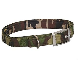 Pethub High Quality And Stylish Dog Fabric Collar-.50 Inch -Extra Small-Army