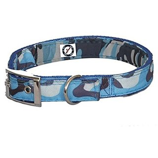 PETHUB HIGH QUALITY AND STYLISH DOG FABRIC COLLAR-.50 INCH -EXTRA SMALL-BLUE