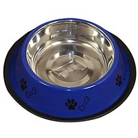 PETHUB QUALITY AND STYLISH DOG FOOD BOWL 460ML-BLUE
