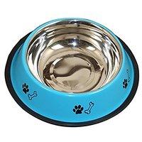 PETHUB QUALITY AND STYLISH DOG FOOD BOWL 460ML-SKY BLUE