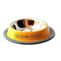 PETHUB QUALITY AND STYLISH DOG FOOD BOWL ROYAL FEEDER 250ML YELLOW