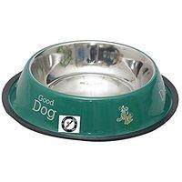 PETHUB QUALITY AND STYLISH DOG FOOD BOWL-920 ML GREEN