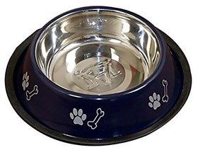 PETHUB QUALITY AND STYLISH DOG FOOD BOWL 600ML BLUE