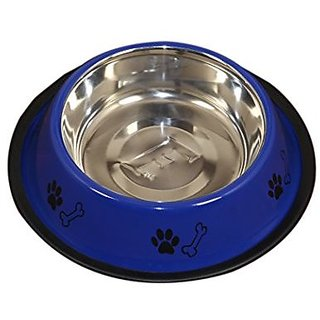 PETHUB QUALITY AND STYLISH DOG FOOD BOWL 600ML-BLUE