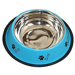 PETHUB QUALITY AND STYLISH DOG FOOD BOWL 460ML-SKY BLUE