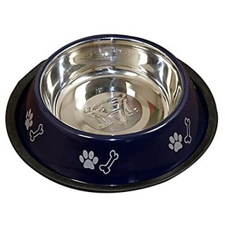 PETHUB QUALITY AND STYLISH DOG FOOD BOWL 460ML BLUE