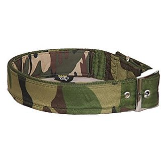 PETHUB Dog Collar With Padding Army Design 1 5 inch