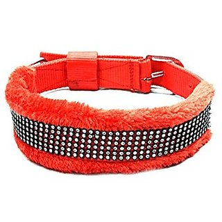 PETHUB Dog Collar With Soft Padding 1.5 inch-Red
