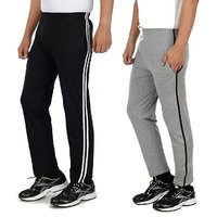 Swaggy Black & Grey Pyjamas For Men (Pack Of 2)