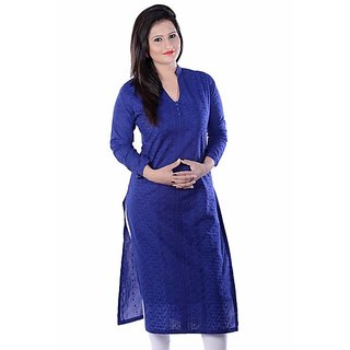CFM Blue Kurti With Sleeves