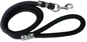 Petshop7 High Quality Stylish Black Plain Dog Rope Leash -15 MM- Medium