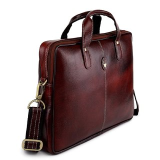 Genuine Leather 13 inch Laptop Messenger Bag