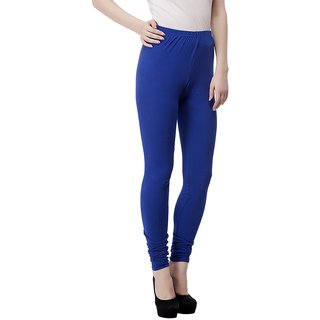 Blue Cotton Lycra Legging