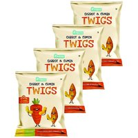Pinata - 1+ Years - Kids Snack - Carrot  Cumin Twigs Pack of 4