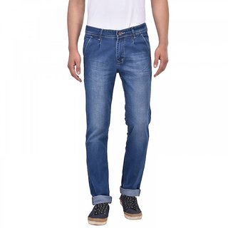 Stylox Dark Blue Slim Fit Jeans For Men