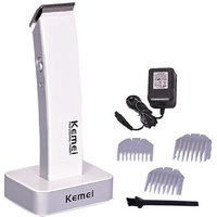 Kemei KM-619 Professional Cordless Trimmer For Men  (White)