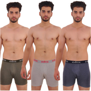 Zotic Men's Trunk 'H' Underwear For Men - Pack Of 3