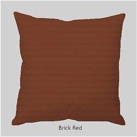 """Super Soft Stripe Brick Red Cushion Covers  - 16"""" X 16"""""""