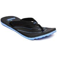 Puma Colaba Men's Black and Blue Flip Flops