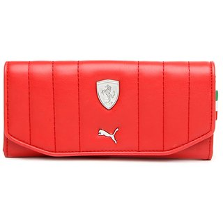 Puma Red Clutch Wallet For Women's