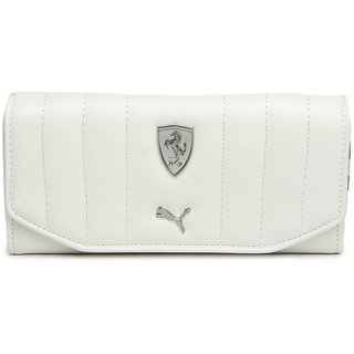 Puma White Clutch Wallet For Women