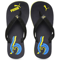 Puma Mens Black & Yellow Flip Flops