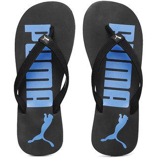 574dddb882b7 Buy Puma Men s Black and Blue Printed Flip-Flops Online - Get 13% Off