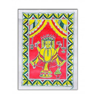 Manjusha Art Lord Ganesha Painting