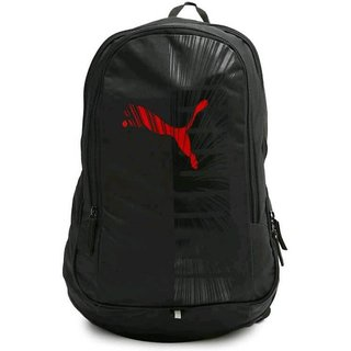 PUMA Unisex Black Graphic Backpack Backpacks