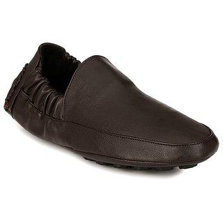 1e6a3e9750c Buy AfroJack Men Brown Solid Regular Driving Shoes Online - Get 63% Off